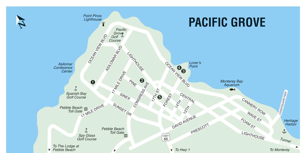 Critics Choice Map of Pacific Grove