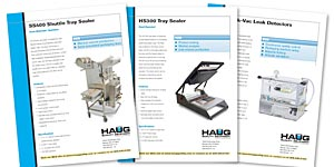 Haug Quality Equipment Sales Sheets