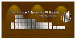 Ernst & Young Entrepreneur Of The Year Plaque Display Wall