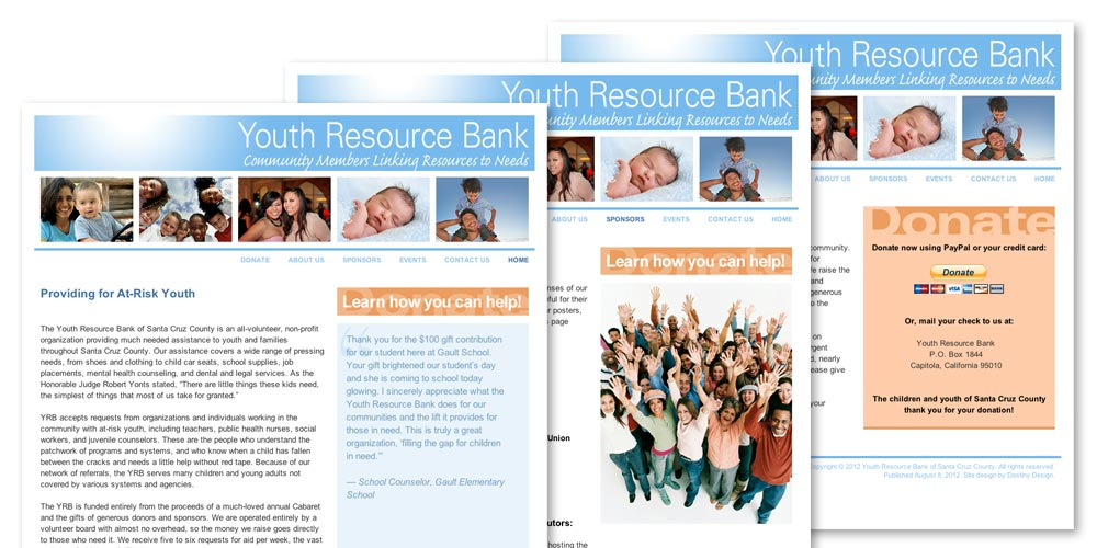 Youth Resource Bank Website